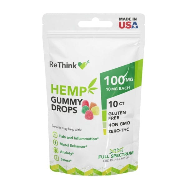 ReThink CBD Hemp Gummy Drops